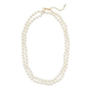 kate spade necklace - long strand of cream pearls
